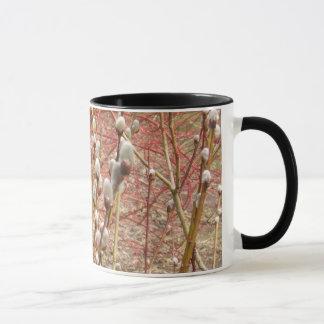 春のネコヤナギ マグカップ