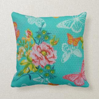 春のバラの蝶装飾用クッション クッション