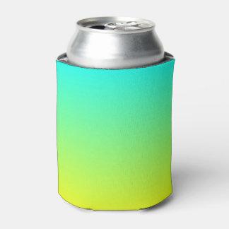 春のファッションのライムグリーンのレモン色のグラデーション 缶クーラー