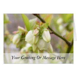 春のブルーベリーの花 カード