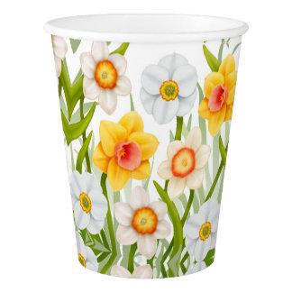 春のラッパスイセンによっては紙コップが開花します 紙コップ