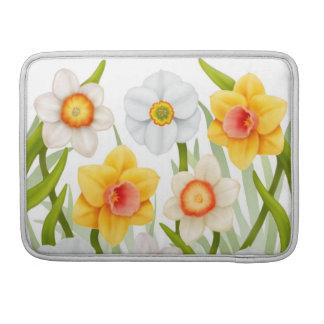 春のラッパスイセンの庭の折り返しの袖 MacBook PROスリーブ