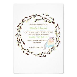 春のロビンリースの結婚式招待状 カード