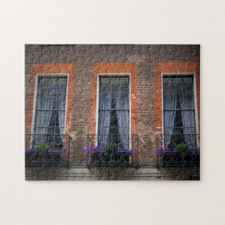 春のロンドンのラベンダーのウィンドウ・ボックスのパズル ジグゾーパズル
