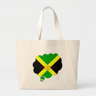春のヴィンテージI愛ジャマイカの美しい土地 ラージトートバッグ