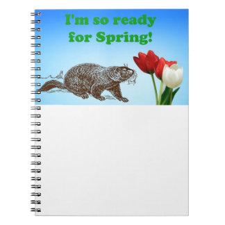 春の休日の間準備ができた聖燭節そう ノートブック