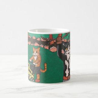 春の園芸猫 コーヒーマグカップ