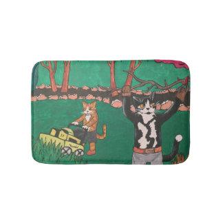 春の園芸猫 バスマット