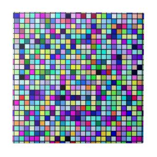 春の多彩の正方形パターンの陰 タイル