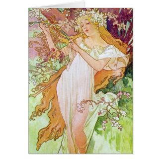 春の女神 カード