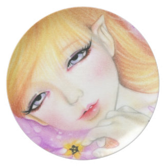春の妖精のバイオレットのプレート プレート