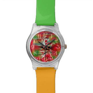 春の復活の抽象芸術のイースター芸術 腕時計