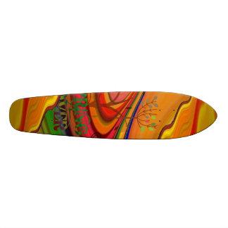 春の恋人の抽象美術のスケートボード スケートボード