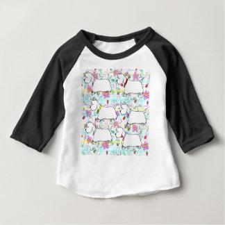春の格子縞の6 Westies ベビーTシャツ