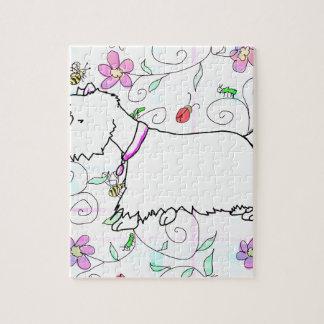 春の格子縞のWestie ジグソーパズル