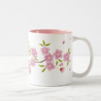 春の桜のマグ ツートーンマグカップ