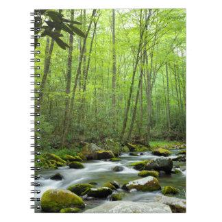 春の森林流れのノート ノートブック