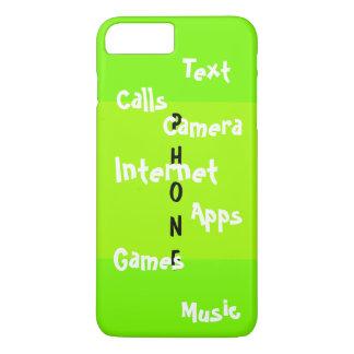 春の粋なiPhoneの場合のライムのColorblockのおもしろい19 iPhone 8 Plus/7 Plusケース