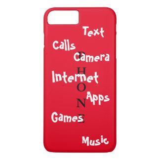 春の粋なiPhoneの場合の赤いColorblockのおもしろい iPhone 8 Plus/7 Plusケース