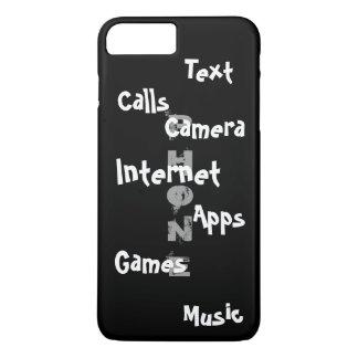 春の粋なiPhoneの場合の黒のColorblockのおもしろい15 iPhone 8 Plus/7 Plusケース