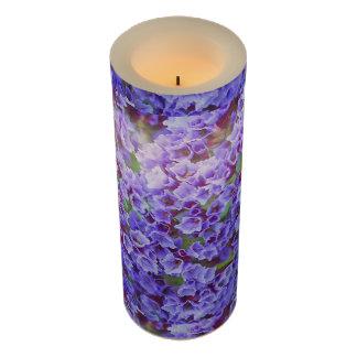 春の紫色の開花 LEDキャンドル