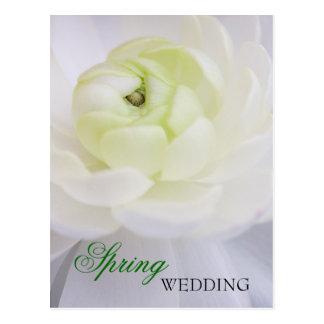 春の結婚式の郵便はがき ポストカード