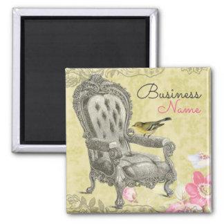 春の緑の冷蔵庫用マグネットのフランスのな椅子 マグネット