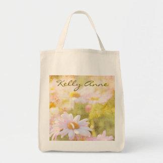春の美しい淡いピンクのデイジーの星状体の歌 トートバッグ