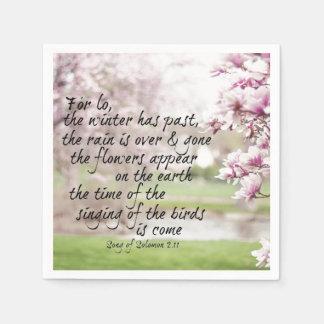 春の聖書の詩 スタンダードカクテルナプキン