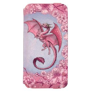 春の自然のファンタジーの芸術のピンクのドラゴン INCIPIO WATSON™ iPhone 6 ウォレットケース