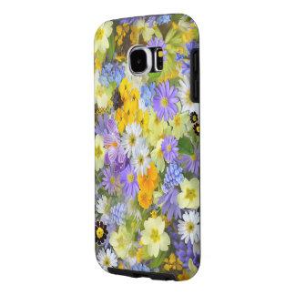 春の花のデザインのSamsungの銀河系S6の箱 Samsung Galaxy S6 ケース