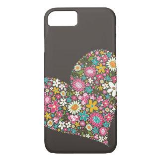 春の花のハートのねじれのiPhoneの穹窖 iPhone 8/7ケース
