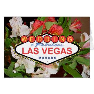 春の花のラスベガスの結婚式の招待状 グリーティングカード