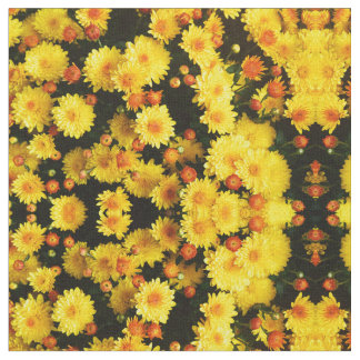 春の花の庭の生地 ファブリック