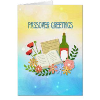 春の花の過ぎ越しの祝いの挨拶 グリーティングカード