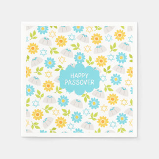 春の花の過ぎ越しの祝いSedar スタンダードカクテルナプキン