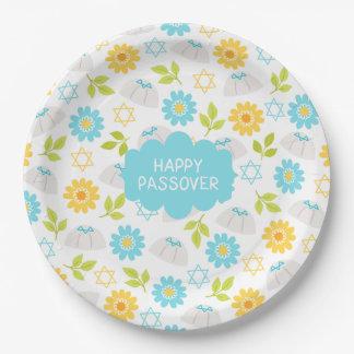 春の花の過ぎ越しの祝いSedar ペーパープレート