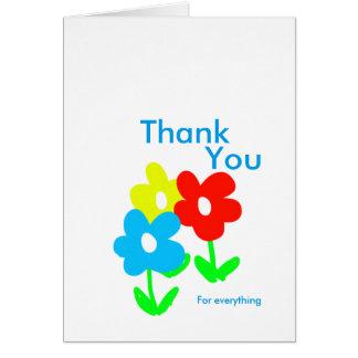 春の花はすべてのためにカード感謝していしています カード