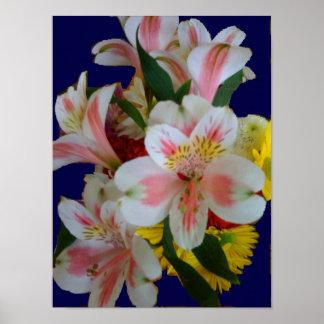 春の花束のキャンバスのプリント ポスター