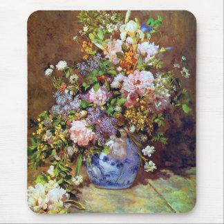 春の花束のファインアートのマウスパッド マウスパッド