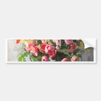 春の花束の花の勉強 バンパーステッカー