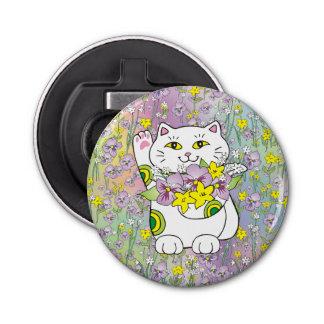 春の花束Maneki Neko (幸運な猫) 栓抜き