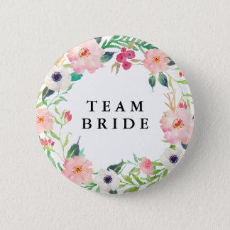 春の花模様のブライダルパーティの結婚式 5.7CM 丸型バッジ