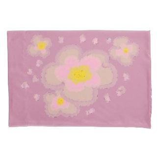 春の花(ピンクの背景) 枕カバー