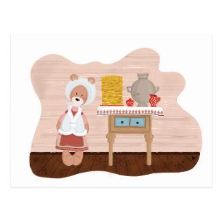 春の謝肉祭くま家族 ポストカード