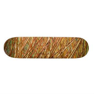 春の金ゴールドの枝自然なパターン 18.7CM ミニスケートボードデッキ