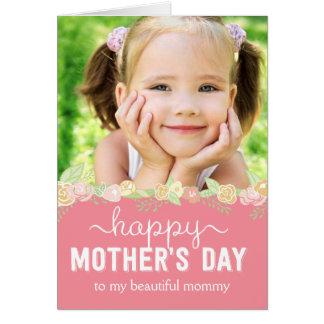 春の開花の母の日の写真カード カード
