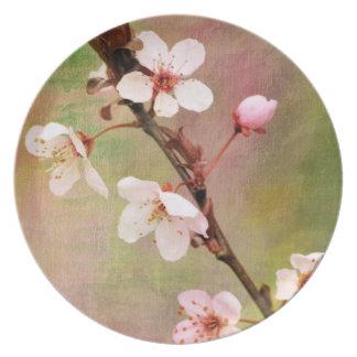 春の開花 プレート