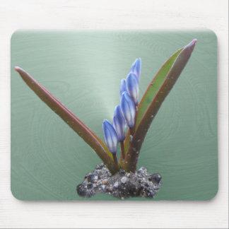 春の青い渦巻の~のmousepad マウスパッド