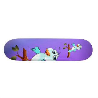 春の青い鳥のスケートボード オリジナルスケートボード